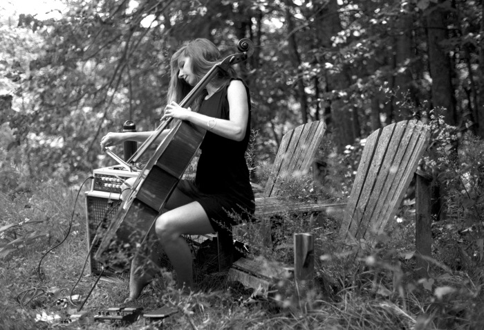 Rebecca playing cello